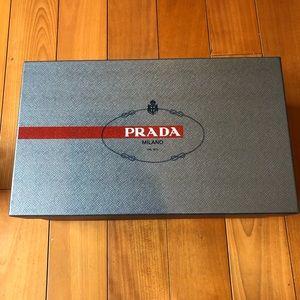 Gray Prada shoe box (empty)